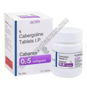 Cabanex 0.5 mg, Cabergoline Tablets, Cabergoline 0.5 mg
