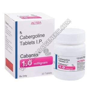 Cabanex 1 mg, Cabergoline 1mg