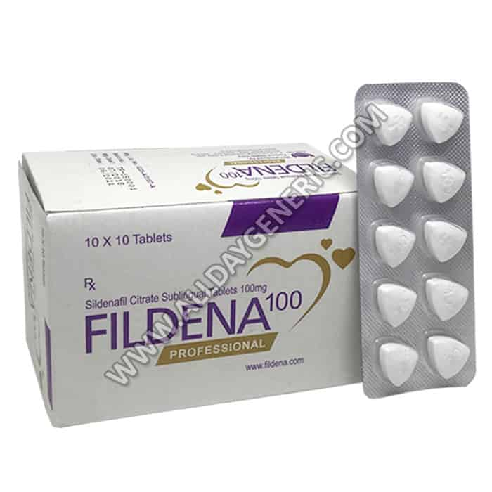 Fildena Professional, sildenafil sublingual, Sublingual Tablets