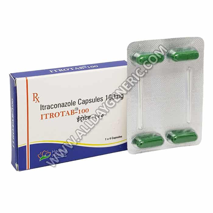 Itrotab 100 Capsules, itraconazole 100mg, itraconazole