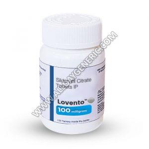 Lovento, Sildenafil 100mg tablets, Generic Viagra