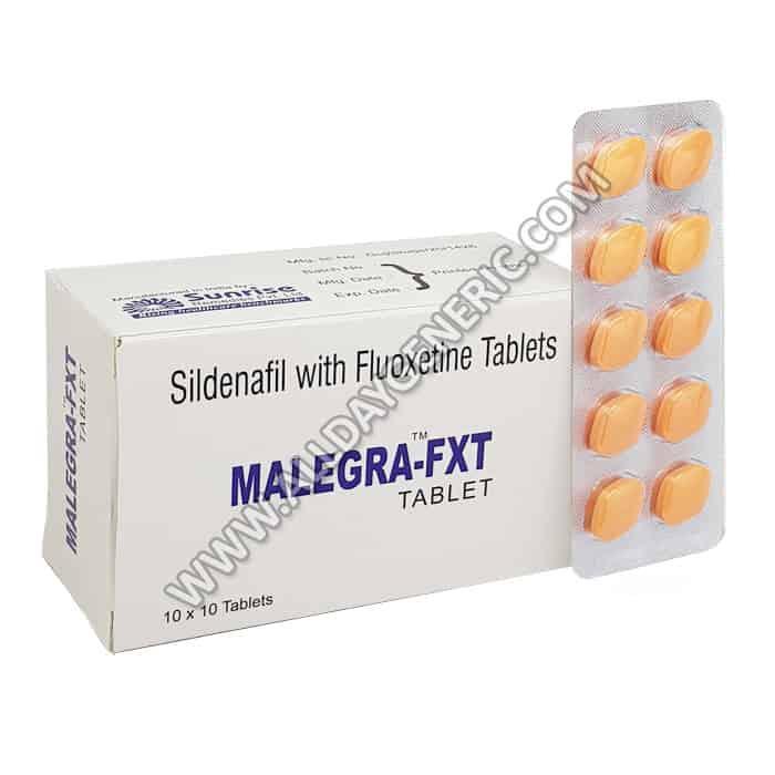 Malegra Fxt (Fluoxetine 40 mg, Sildenafil Citrate 100mg)