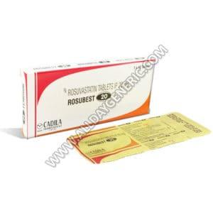 Rosubest 20 mg (Rosuvastatin)