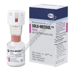 Solu Medrol 40 mg Injection, Methylprednisolone 40 mg ml Injection