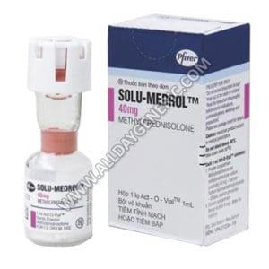 Solu Medrol 40 mg Injection, Methylprednisolone 40 mg ml Injection