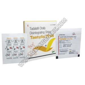 Tastylia 20 mg (Tadalafil Orally Disintegrating Strips) Tastylia Strips