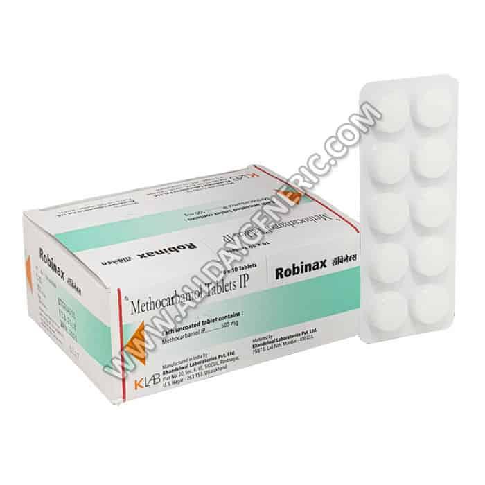 Robinax 500 mg Tablet, Methocarbamol