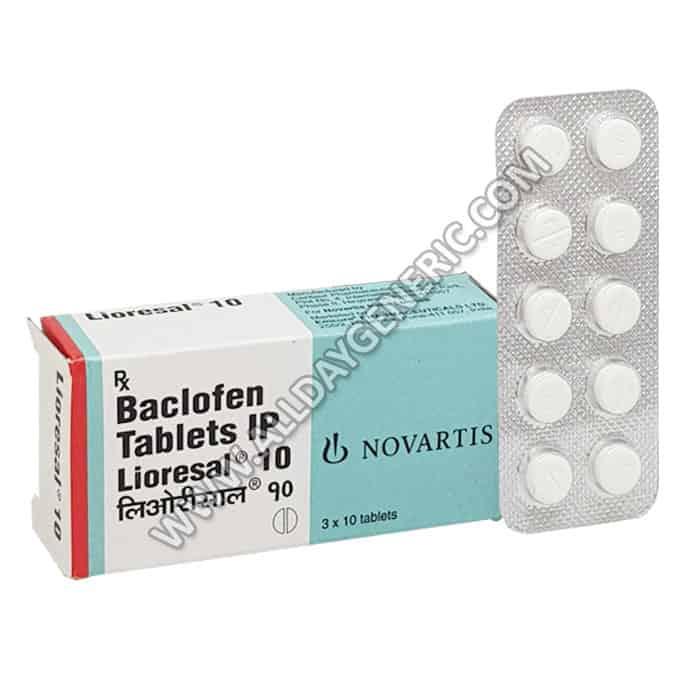 Lioresal Tablet, Baclofen